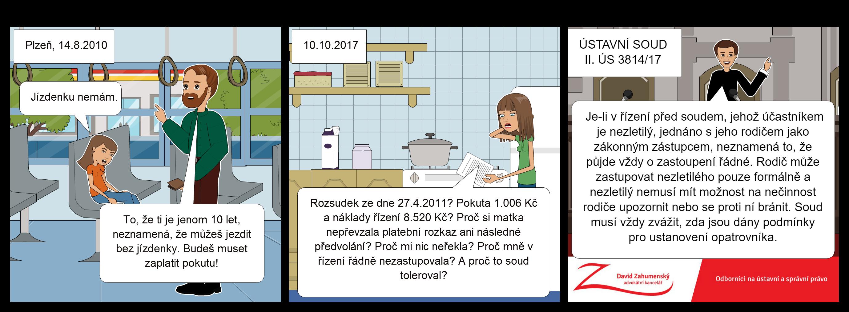 Komiks ÚStavní soud Zahumny k nálezu nálezu Ústavního soudu sp. zn. II. ÚS 3814/17